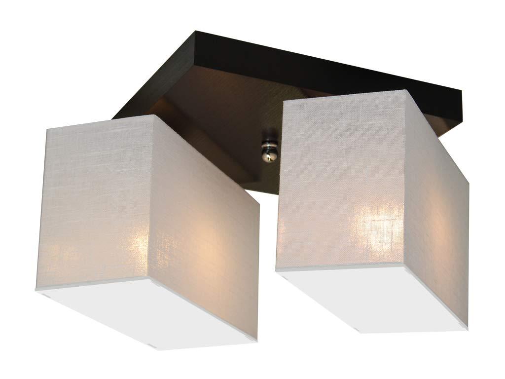 Braun Deckenlampe Deckenleuchte mit Blenden BLEJLS22BRD Leuchte Lampe 2-flammig Holz Wohnzimmerlampe Schlafzimmerlampe K/üche Kinderzimmer Lampe LED-geeignet