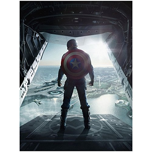 Chris Evans is Captain America The Winter Soldier Ready to Jump 11 x 17 Poster Litho and with FREE COMIC CON GIFT!