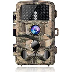 """Campark Trail Game Camera 14MP 1080P Waterproof Hunting Scouting Cam Wildlife Monitoring 120°Detecting Range Motion Activated Night Vision 2.4"""" LCD IR LEDs"""