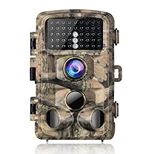 Campark Trail Game Camera-14MP 1080P Waterproof Hunting Scouting Cam with 3 Infrared Sensors for Wildlife Monitoring with 120°Detecting Range Motion Activated Night Vision 2.4″ LCD IR LEDs