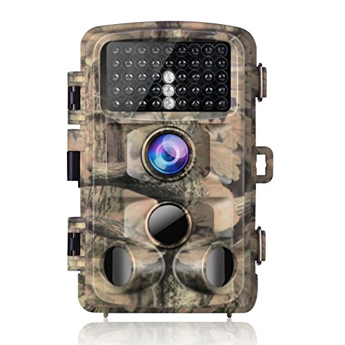 "Campark Trail Game Camera 14MP 1080P Waterproof Hunting Scouting Cam for Wildlife Monitoring with 120°Detecting Range Motion Activated Night Vision 2.4"" LCD IR LEDs -"