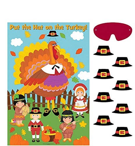 PIN The HAT ON The Turkey Game for Christmas Thanksgiving AMSCAM