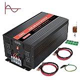 KRIPOL Pure Sine Wave Inverter 3000 Watt-12V DC to 110V AC Car Power