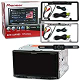 Pioneer AVH-X490BS Double DIN 2DIN 7'' Touchscreen WVGA AM/FM DVD MP3 CD Player USB Bluetooth SiriusXM-Ready with License Plate Rear View Backup Camera Black