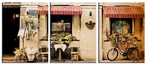 JP Londres scnvt50203Panel arte 2en de grosor rústico café Venecia Italia Gallery Wrap Heavyweight Conjunto de 3de...