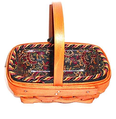 Longaberger Parsley Booking Basket with Cornflower Liner