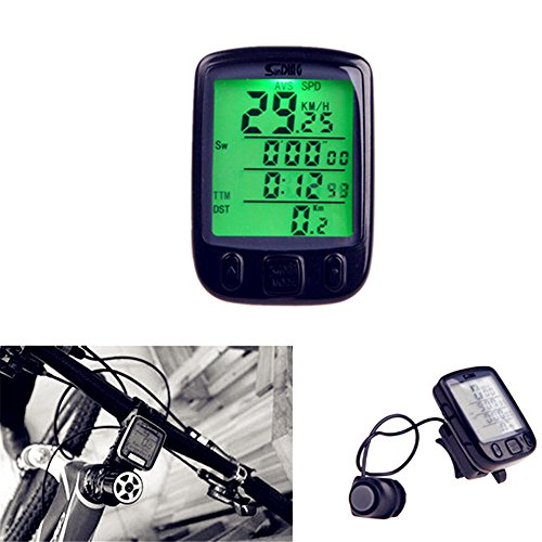 Pevor Waterproof Multifunction Wireless Bicycle Computer Odometer Speed meter LCD Backlight Wireless Stopwatch by Pevor