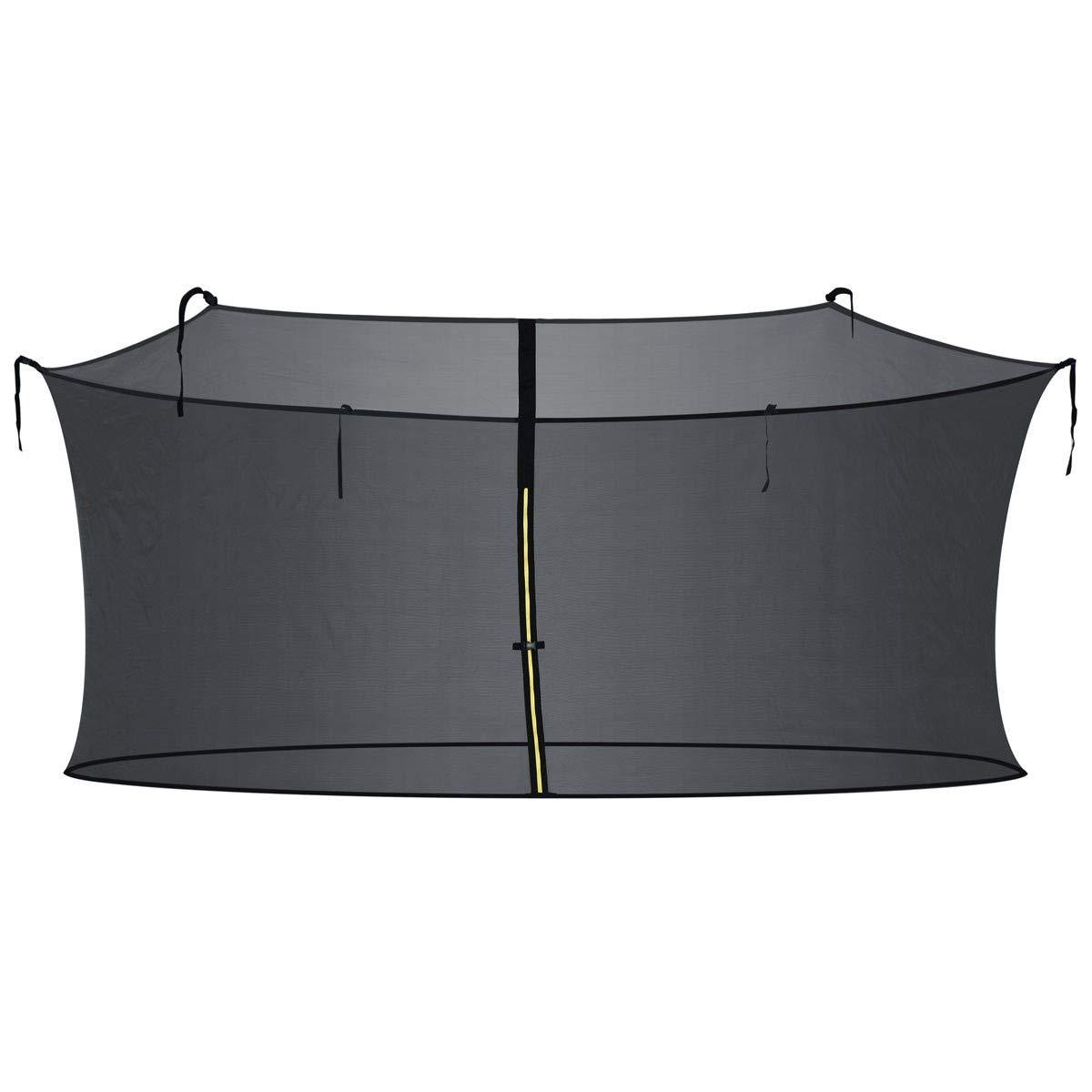 Zupapa 15FT 14FT 12FT 10FT Trampoline Inside-Enclosure net Replacement Black Mesh (12FT)