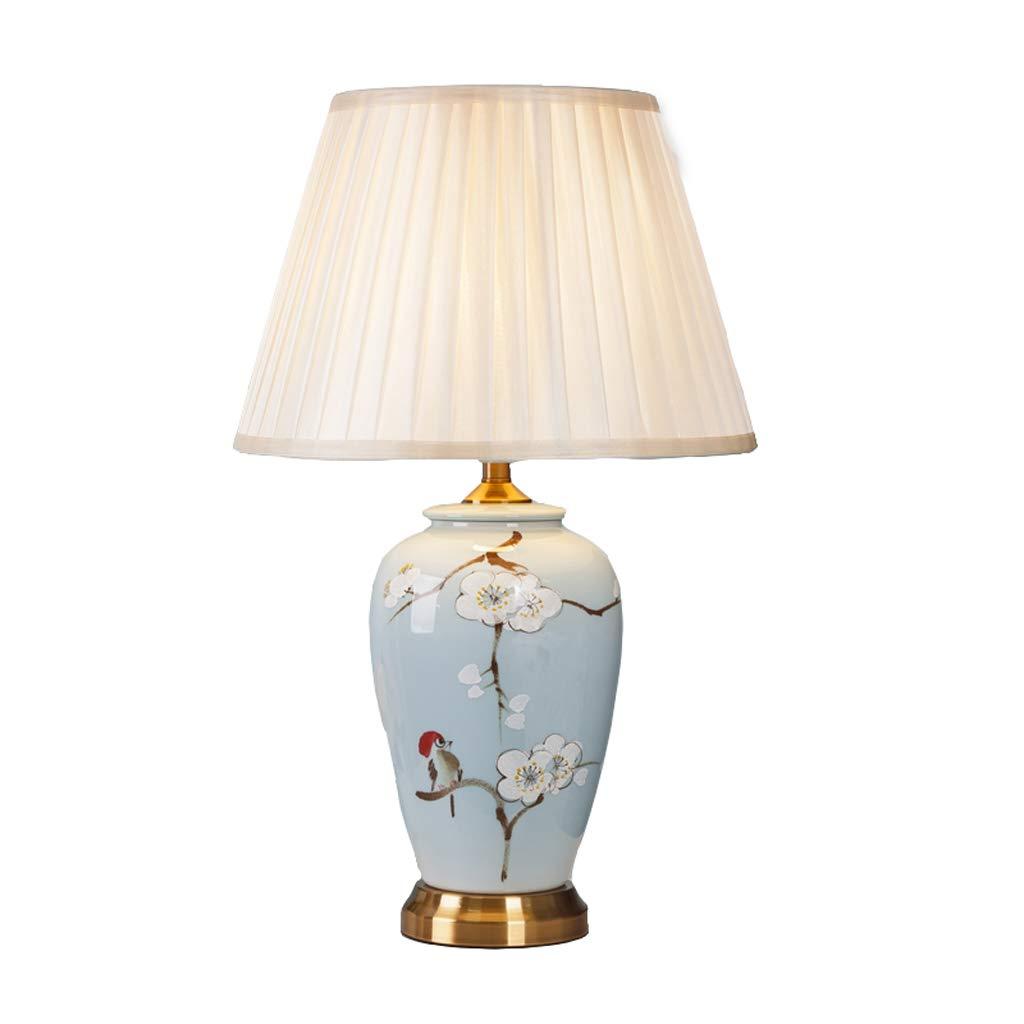 Wohnzimmer-Tischlampe aus Keramik mit handbemalter Stoff im im im Schlafzimmer B07K591JV9   Qualitätsprodukte  05a126