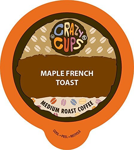 Crazy Cups Flavored Coffee, for the Keurig K Cups 2.0 Brewers, Maple French Toast, 22 Count