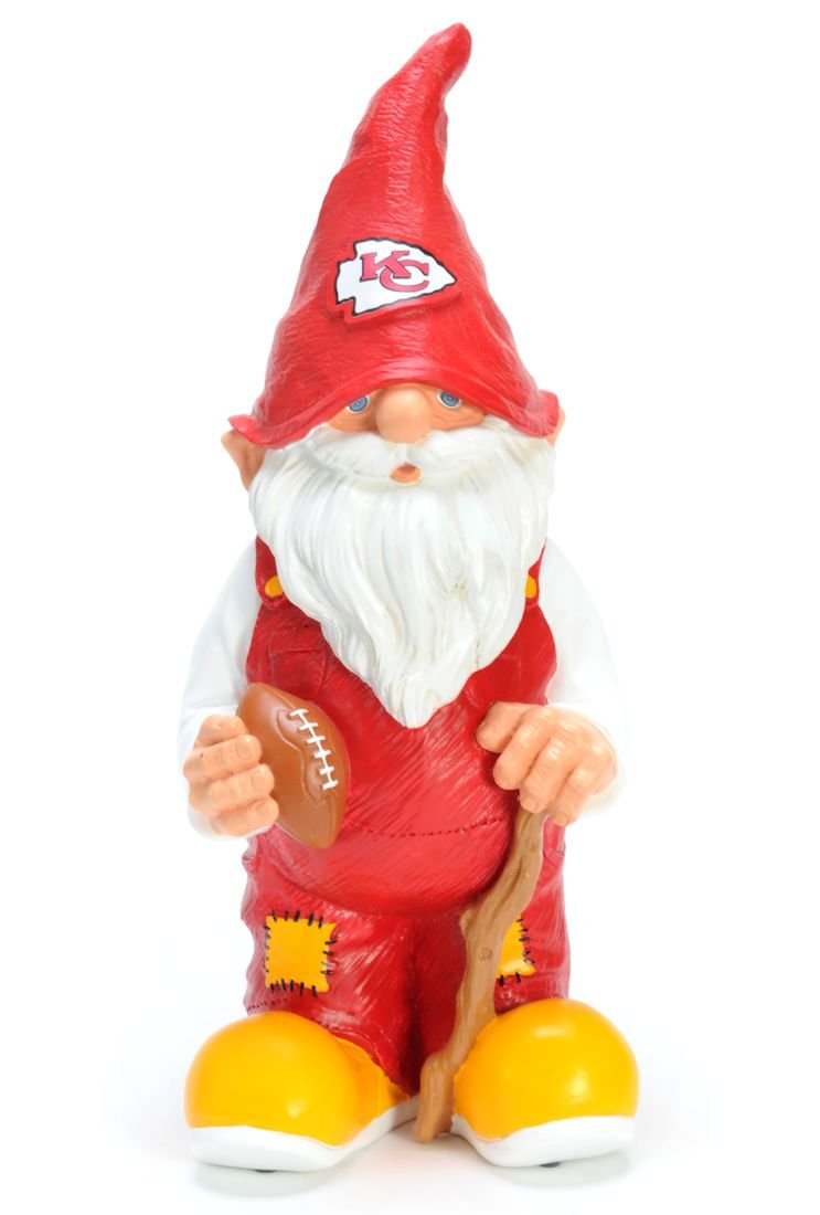 amazon com nfl kansas city chiefs garden gnome kc chiefs