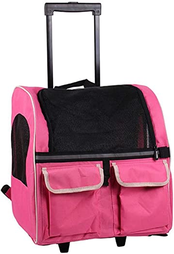 Pet Carrier Backpack Large Pets Trolley Carrier Dog Stroller Pet Carrier Backpack Luxury Travel Pet Bag Strollers Pets up to 40 Pounds Ventilated Design