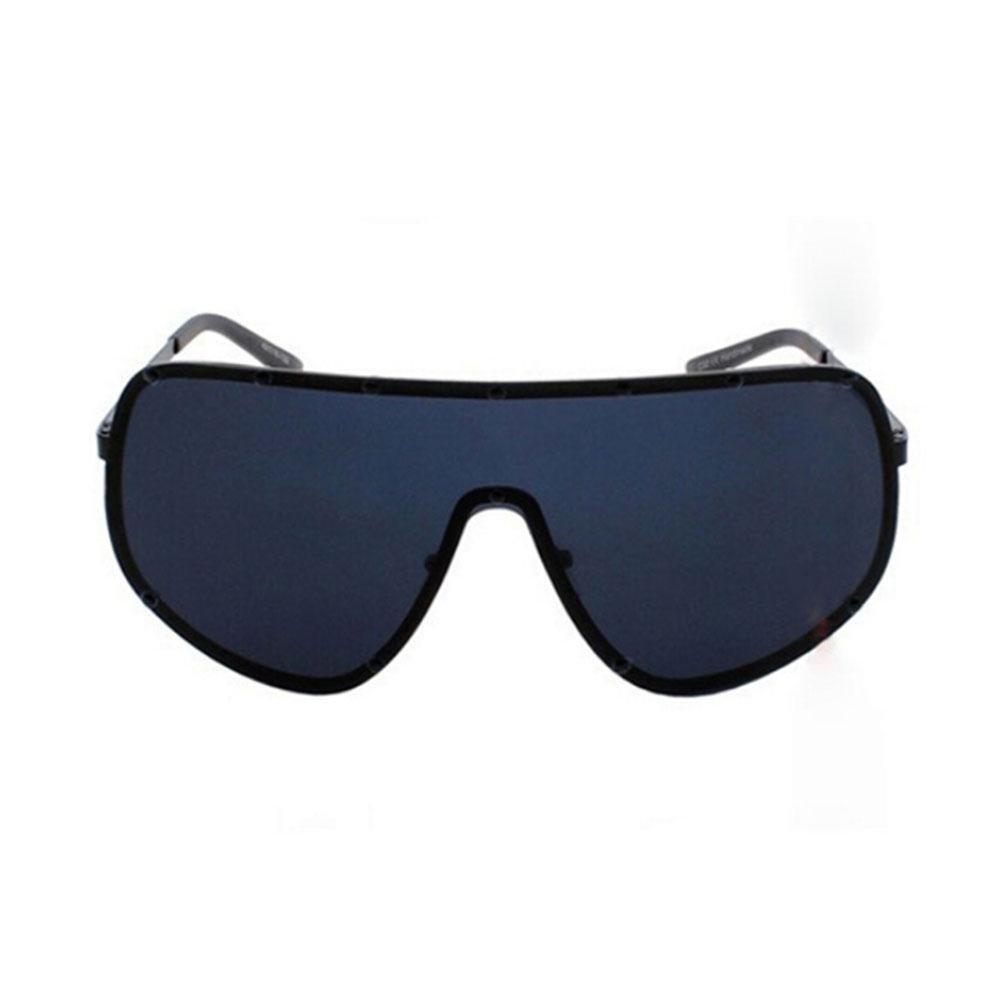 Z&YQ Gafas de sol Una lente de una sola pieza negro super-gran marco cubrir hombres y mujeres polarizadas gafas personalizadas