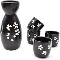 Liwein Sake Set,5 Piezas Sake De CerÁMica Japonesa