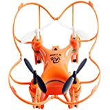 Owill RC101 Drone 2.4G 4CH 6-Axis Mini RC Gyro Aircraft Without Camera/ For Kids Fun Playing (Orange)