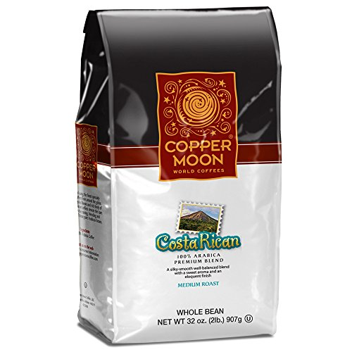 Copper Moon Whole Bean Coffee, Costa Rican, 2 Pound