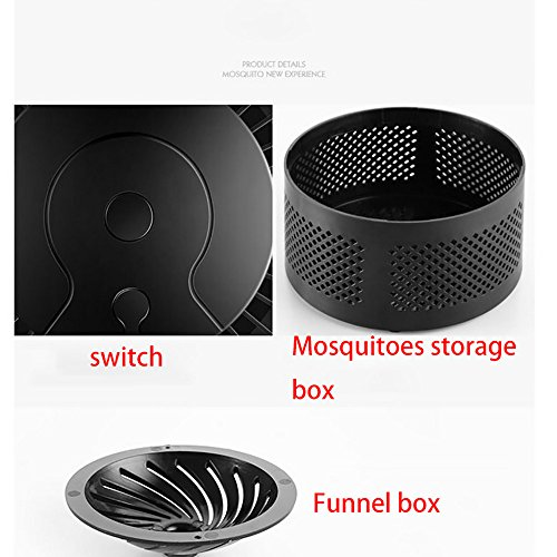 Pangxiannv Electric Fly Bug Zapper Mosquito Insect Killer LED Light Trap Lamp Pest Control Trap Electric Bug Zapper Mosquito Killer Insect Trap Solar Bug Zapper Indoor Mosquito Killer