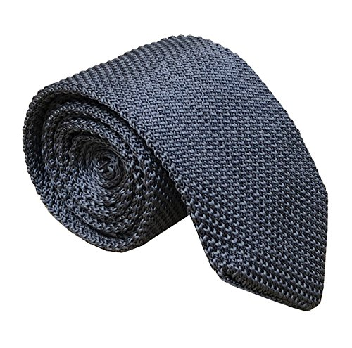 Men Classic Grey Solid Color Woven Silk Ties Designer Cotton Neckties Neckwear