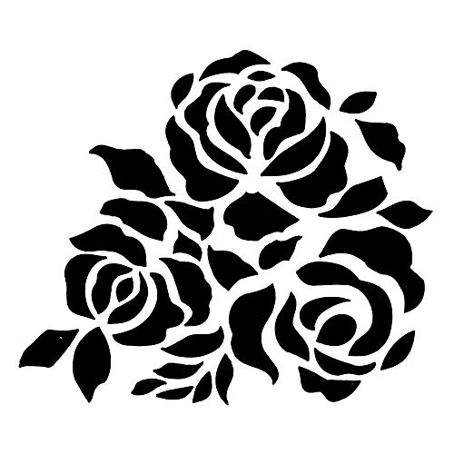 (1 piece 1PC Reusable Stencil Airbrush Painting Art DIY ScrapBooking Craft Flower Layering Cake Baking Plastic Stencils)