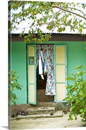 french-polynesia-tahiti-maupiti-village-home-and-entry-gallery-wrapped-canvas