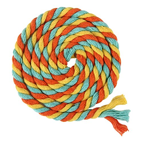 ULTNICE 100m Multicolor 3-Ply Twisted Cotton Rope Cotton Cord String for DIY Arts Crafts(Orange Sky Blue Yellow) by ULTNICE