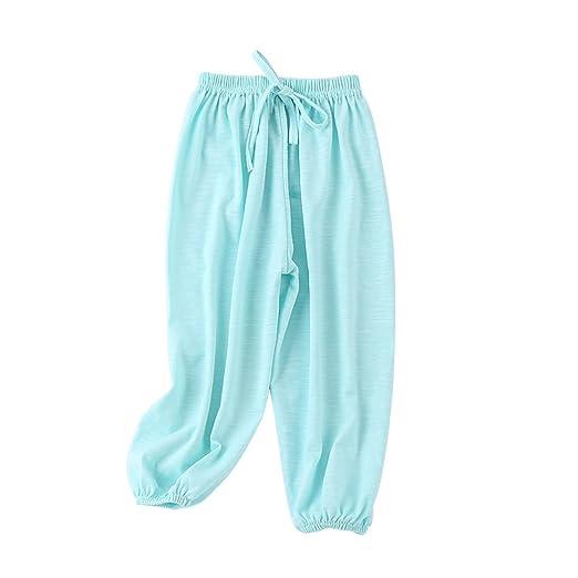 85b144c41aa2 Amazon.com  PAUBOLI Baby Long Bloomers Soft Slub Cotton Harem Pants ...