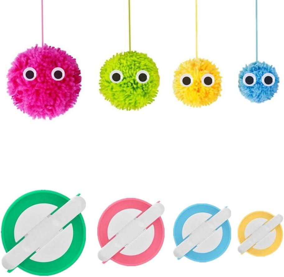 Pom Pom Maker 4 Tamaños Pompón Hacedor Pelusa Herramienta Para Lana Aguja Tejedor Tejido DIY para niños y adultos
