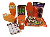 adorable Halloween themed candy and gift box bundle includes treats and favors for 4: fun for gifts, trick or treating, favors, parties and more