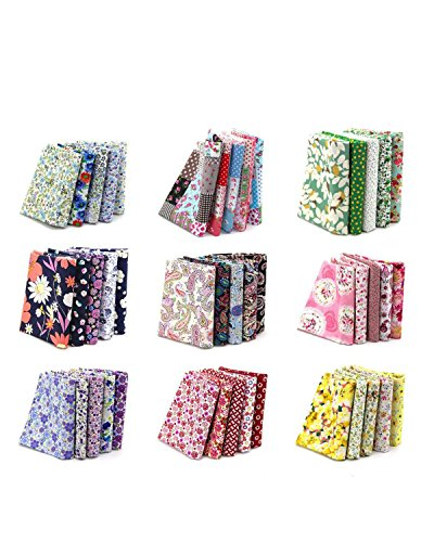 (100PCS BcPowr 10 x 10cm Different Pattern Fabric Patchwork Craft Cotton DIY Sewing Scrapbooking Quilting Dot Pattern)