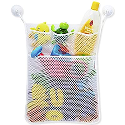 Sacow Bath Toy Organizer, Fashion Baby Toys Mesh Storage Bag Bath Bathtub Doll Organizer Handy Net Storage Bin: Home & Kitchen