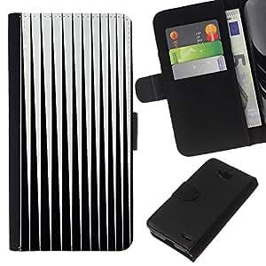 EJOY---La carpeta del tirón la caja de cuero de alta calidad de la PU Caso protector / LG OPTIMUS L90 / --Negro Blanco abstracto minimalista Vertical