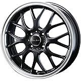 【適合車種:ホンダ N BOX+(JF系 NA車 4WD)2012~ サマータイヤセット】 DUNLOP エナセーブ EC202L 155/65R14 夏用タイヤとホイールの4本セット アルミホイール:BLEST ユーロスポーツ タイプ805_セミグロスブラック 4.5-14 4/100 (14インチ サマータイヤセット)