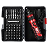 SKIL SD561204 Rechargeable 4V Cordless Screwdriver with Circuit Sensor Technology & 45Piece Bit Kit -