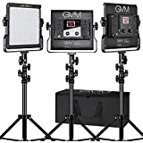 LED Video Light Kit GVM Dimmable Bi-color  Variable 2300K~6800K With Digital Display For Studio. CRI97+ TLCI97 + & Brightness of 10~100% Metal Housing for Video Photography Lighting 29W 3 Kit
