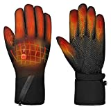 Heated Gloves Electric Hand Warmer Rechargeable Powered Li-ion Battery up to 6 Hours, Snow Winter Warm Outdoor Cycling, Motorcycle, Hiking, Snowboarding,Men Women