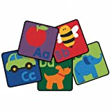 Carpets for Kids Sequential Seating Literacy Squares (Set of 26)