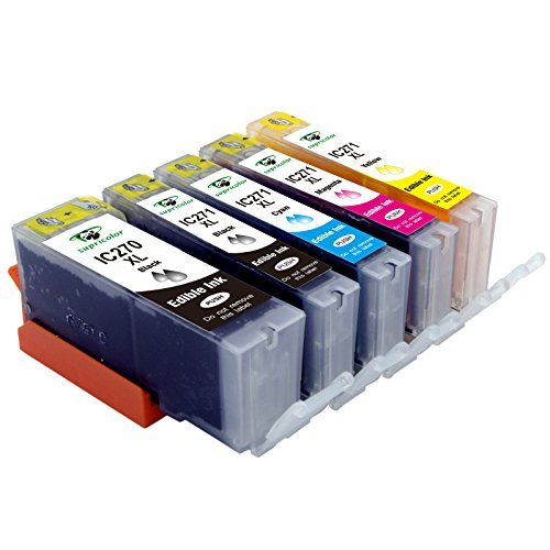 Supricolor 5 Pack Replacement Edible Ink PGI-270XL PGI 270 CLI-271XL CLI 271 for Canon MG6820 MG6821 MG682 MG5720 MG5722 MG5721 Edible Cake Printing Photo #1