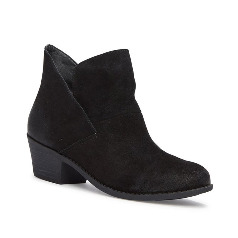 Me Too Womens zena14 Suede Almond Toe Ankle Fashion Boots B07121B7GG 11 B(M) US|Black Suede