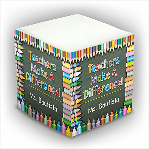 ick Memo Cube - Teachers make a Difference - 2807_32 (Personalized Memo Cube)