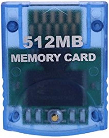 Mekela Memory Card 512MB (8192 Blocks) Compatible Nintendo Wii Gamecube Game Cube NGC GC (Blue)