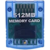 Mekela Memory Card 512MB (8192 Blocks),Compatible for Wii Gamecube Game Cube NGC GC (Blue)