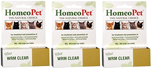 Homeopet Feline Wrm Clear Drops (Pack of 3)