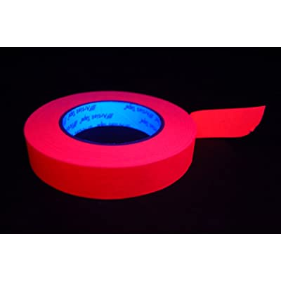 1 Inch UV Pink Blacklight Reactive Fluorescent Artist Tape 1 Roll x 60 Yards: Toys & Games