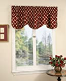 Austin Scalloped Valance - BURGUNDY color