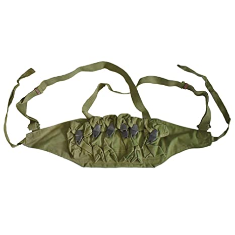 92b3c58556e591 Amazon.com : Heerpoint Original Vietnam War Period Chinese Chest Rig Army  Ammo Pouches Bandolier : Sports & Outdoors
