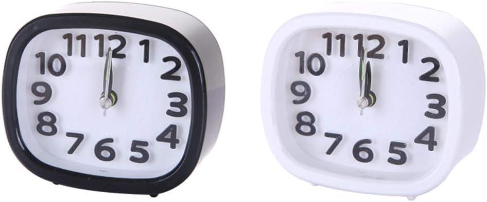 bureau /à piles classique noire round shape blanc forme ronde salon d/écoration concise num/érique R/éveil de forme ronde//carr/ée multifonction portable pour chambre /à coucher
