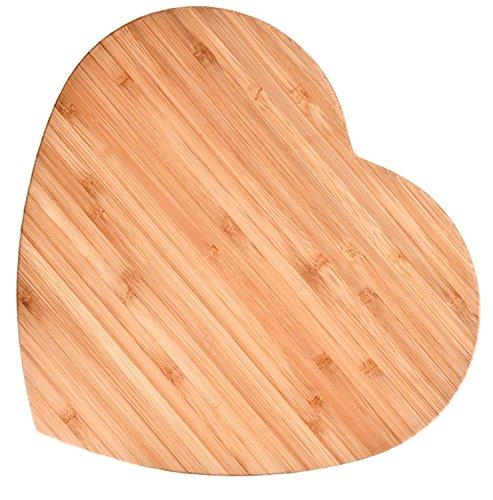 Bamboo Heart-shaped Cutting Board, Large