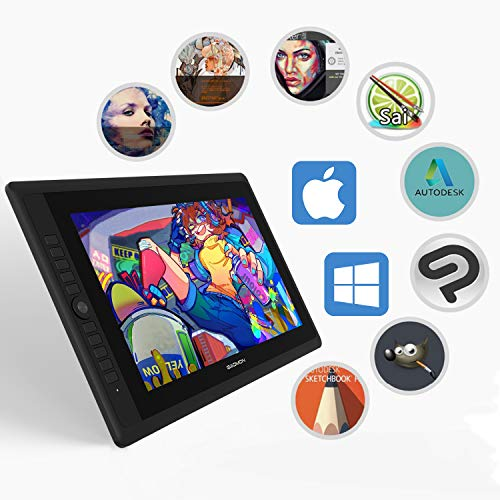 GAOMON PD156 PRO 15.6 inches Full-Laminated Pen Display Digital Drawing Monitor with 9 Express Keys and 8192 Levels Tilt-Support Battery-Free Pen