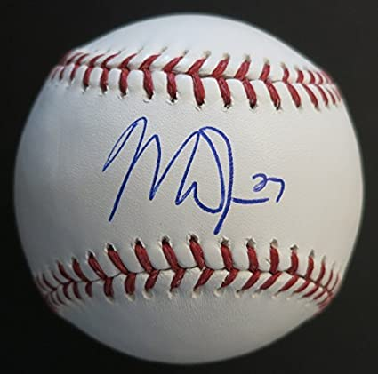 1151e5cadd0 Image Unavailable. Image not available for. Color  Mike Trout Autographed  Baseball