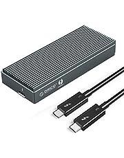 [Intel-certifierad] ORICO Thunderbolt 3-hölje för M.2 NVMe SSD, extern M2 PCIe-adapter med 0,5 m Thunderbolt 3-kabel för M.2 PCIe NVMe SSD:er (M-Key 2280)